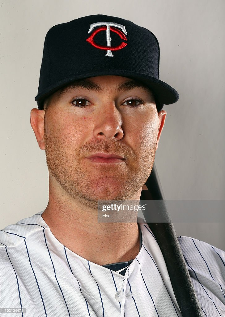 Ryan Doumit #9 of the Minnesota Twins poses for a portrait on February 19, 2013 at Hammond Stadium in Fort Myers, Florida.