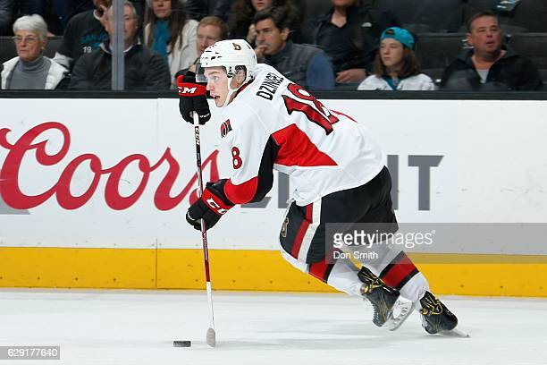 Ryan Dzingel of the Ottawa Senators skates during a NHL game against the San Jose Sharks at SAP Center at San Jose on December 7 2016 in San Jose...