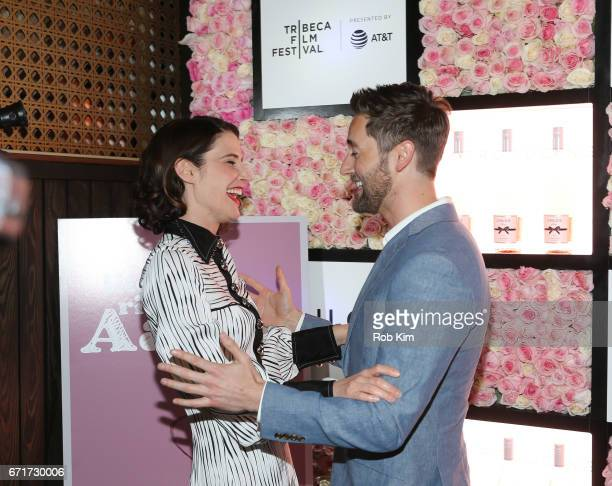 Ryan Eggold and Cobie Smulders attend the 2017 Tribeca Film Festival afterparty for 'Literally Right Before Aaron' sponsored by Chloe Wine Collection...