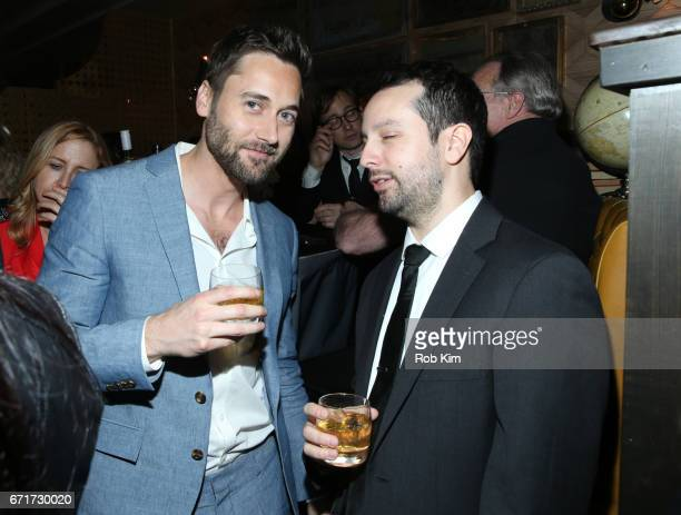 Ryan Eggold and guest attend the 2017 Tribeca Film Festival afterparty for 'Literally Right Before Aaron' sponsored by Chloe Wine Collection and Rizk...