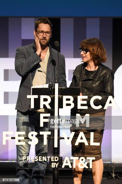 Ryan Eggold and Ileen Gallagher present the Best Documentary Short Award onstage at Awards Night during the 2017 Tribeca Film Festival at BMCC...