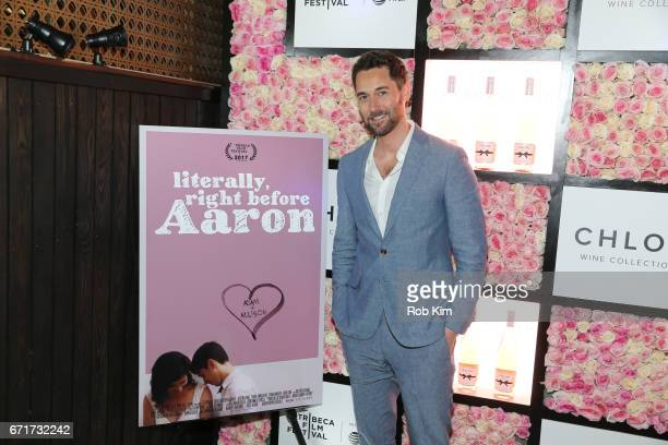 Ryan Eggold attends the 2017 Tribeca Film Festival afterparty for 'Literally Right Before Aaron' sponsored by Chloe Wine Collection and Rizk Pictures...