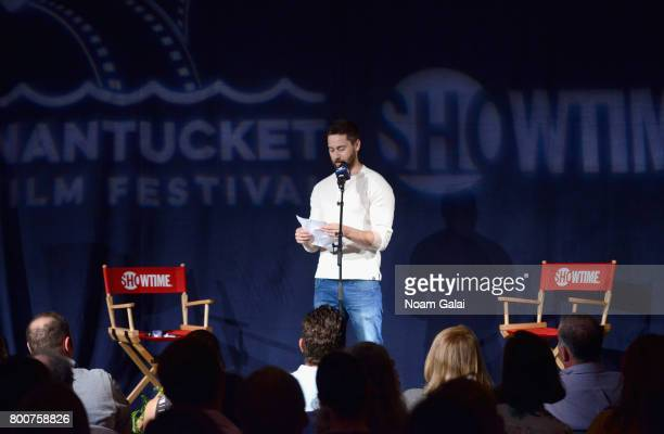 Ryan Eggold speaks onstage at 'Late Night Letters' during the 2017 Nantucket Film Festival Day 4 on June 24 2017 in Nantucket Massachusetts