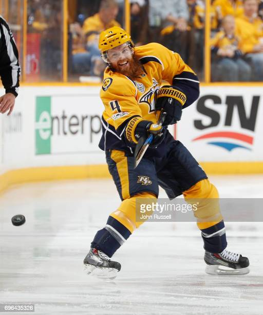 Ryan Ellis of the Nashville Predators skates against the Pittsburgh Penguins during Game Six of the 2017 NHL Stanley Cup Final at Bridgestone Arena...