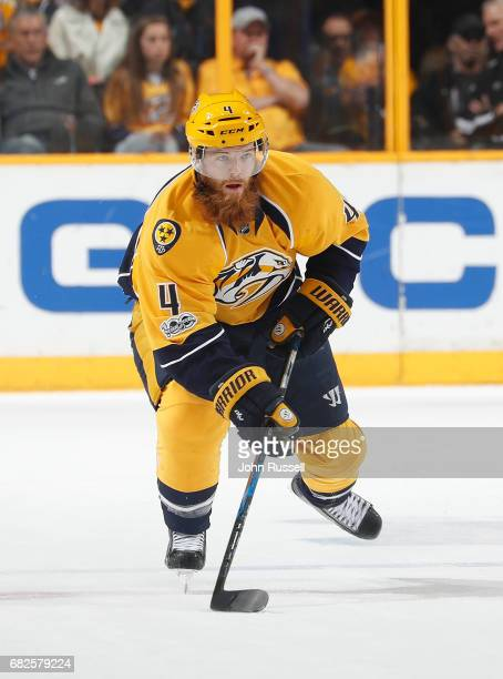 Ryan Ellis of the Nashville Predators skates against the St Louis Blues in Game Six of the Western Conference Second Round during the 2017 NHL...