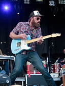 Ryan Engelman of the Turnpike Troubadours performs during Muskogee G Fest 2016 at Hatbox Field on June 18 2016 in Muskogee Oklahoma