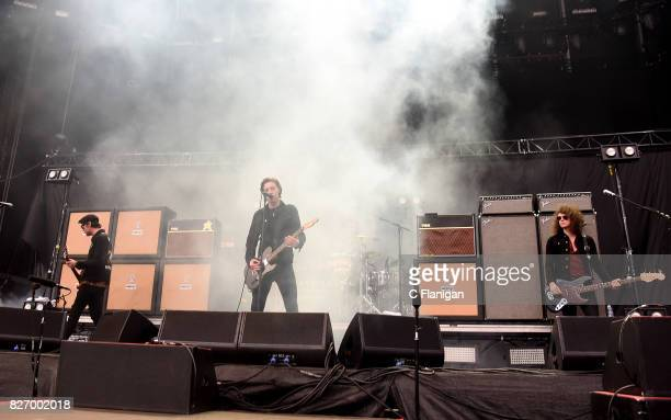 Ryan Evan 'Van' McCann Johnny Bond Drummer Bob 'Sideshow Bob' Hall and Benji Blakeway of Catfish and the Bottlemen perform during the 2017 'Radio...