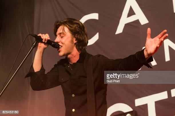 Ryan Evan 'Van' McCann of Catfish and the Bottlemen performs at White River Amphitheatre on August 1 2017 in Auburn Washington