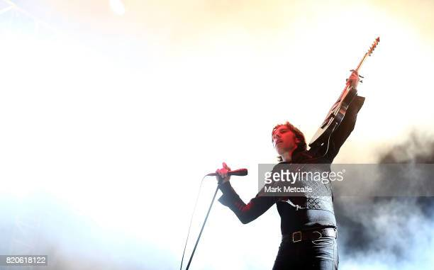 Ryan Evan 'Van' McCann of Catfish and the Bottlemen performs during Splendour in the Grass 2017 on July 22 2017 in Byron Bay Australia