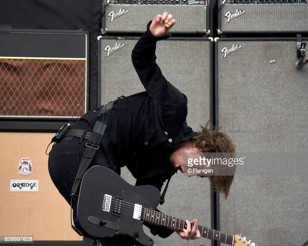 Ryan Evan 'Van' McCann of Catfish and the Bottlemen performs during the 2017 'Radio Revolution' Tour at OaklandAlameda County Coliseum on August 5...