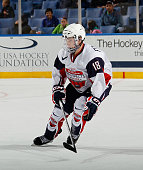 Ryan Fitzgerald of Team McClanahan skates against Team Housley at the USA Hockey AllAmerican Prospects Game at the First Niagara Center on September...