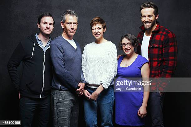 Ryan Fleck Ben Mendelsohn Analeigh Tipton Anna Boden and Ryan Reynolds from the film 'Mississippi Grind' pose for a portrait for the Los Angeles...