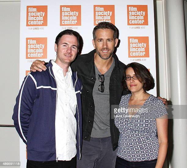 Ryan Fleck Ryan Reynolds and Anna Boden attend the The Film Society Of Lincoln Center Sneak Previews 'Mississippi Grind' at The Film Society of...