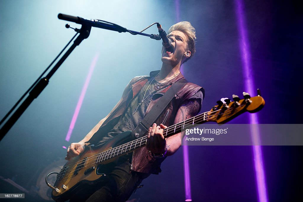Ryan Fletcher of Lawson perform on stage at O2 Academy on February 26, 2013 in Leeds, England.