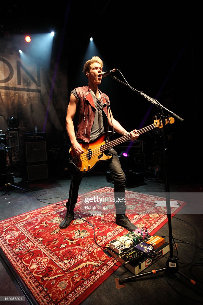 Ryan Fletcher of Lawson performs on stage at O2 Shepherd's Bush Empire on March 1, 2013 in London, England.