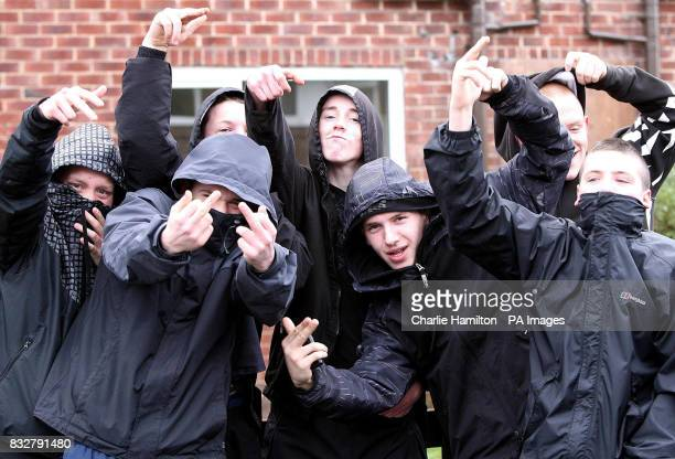CONTENT Ryan Florence with fellow hoodiewearers Florence ran up behind Tory leader David Cameron on Thursday in Manchester and pretended to shoot him...