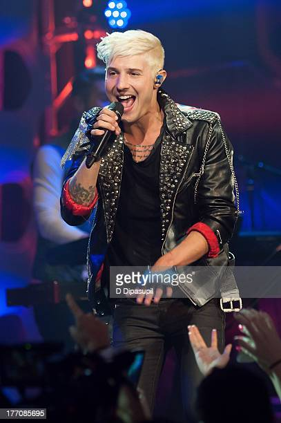 Ryan Follese of Hot Chelle Rae performs at a 'Crazy Good VMA Concert Event' presented by MTV and Pop Tarts at Music Hall of Williamsburg on August 20...