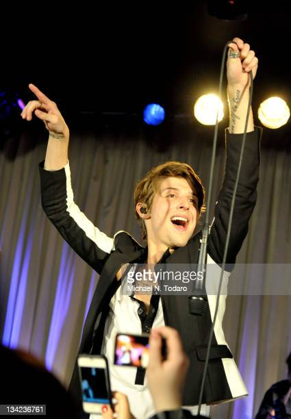Ryan Follese of Hot Chelle Rae performs at the 2011 OurStage panel finale at Canal Room on November 28 2011 in New York City