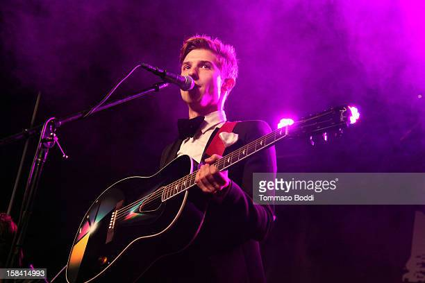 Ryan Follese of Hot Chelle Rae performs at the Salvation Army's 3rd annual Rock the Red Kettle concert held at the Nokia Theatre LA Live on December...