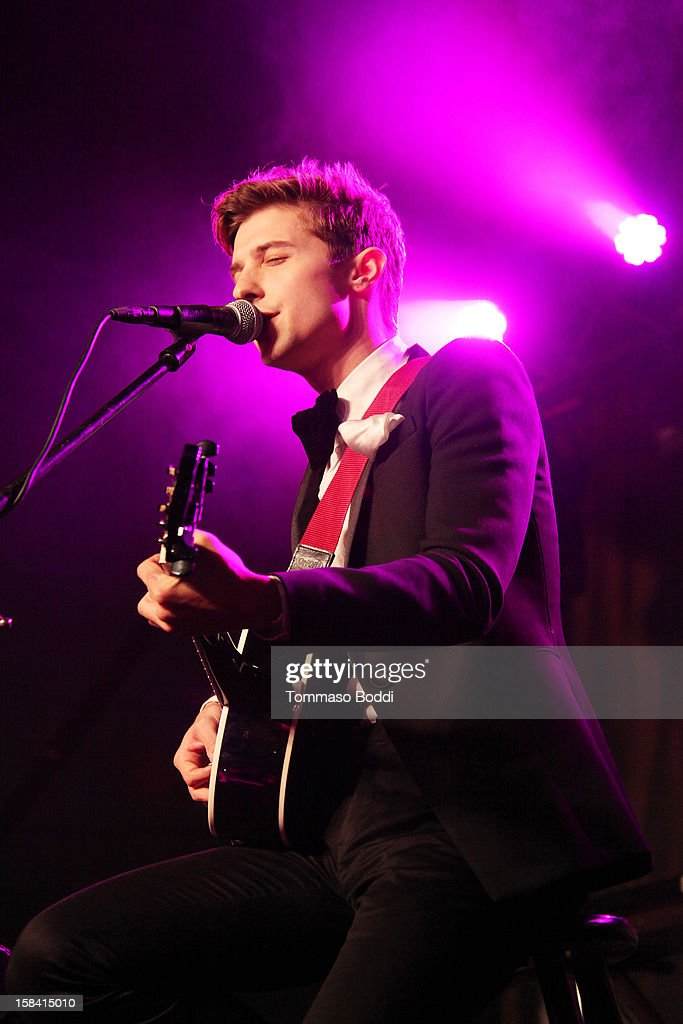 Ryan Follese of Hot Chelle Rae performs at the Salvation Army's 3rd annual Rock the Red Kettle concert held at the Nokia Theatre L.A. Live on December 15, 2012 in Los Angeles, California.