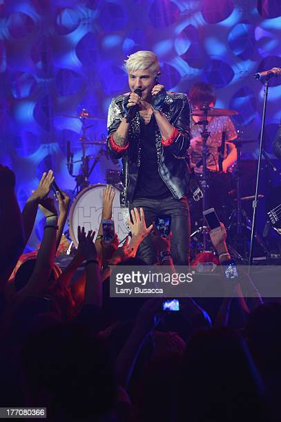 Ryan Follese of Hot Chelle Rae performs during a Crazy Good VMA Concert event presented by MTV and Pop Tarts at Music Hall of Williamsburg on August...