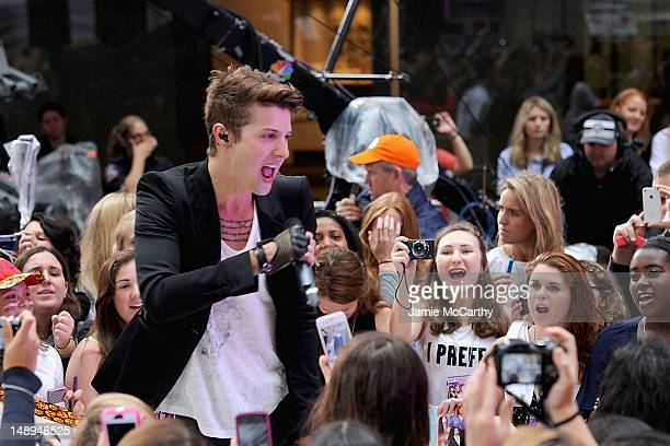 Ryan Follese of Hot Chelle Rae performs on NBC's 'Today' at Rockefeller Plaza on July 20 2012 in New York City