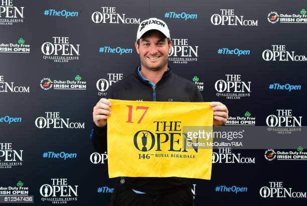 Ryan Fox of New Zealand pictured after winning qualification to the Open at Royal Birkdale following his final round at the Dubai Duty Free Irish...