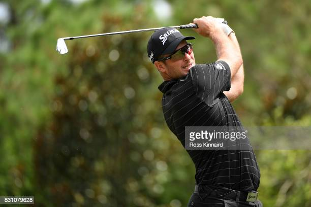 Ryan Fox of New Zealand plays his shot from the sixth tee during the final round of the 2017 PGA Championship at Quail Hollow Club on August 13 2017...