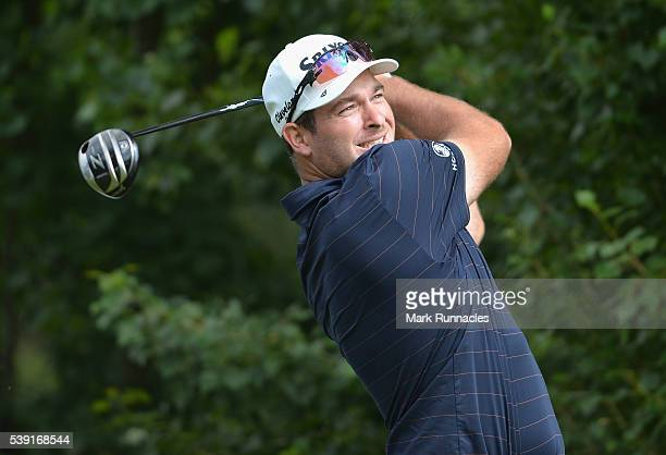 Ryan Fox of New Zealand tees off on hole 4 during the second round of The Lyoness Open at Diamond Country Club on June 10 2016 in Atzenbrugg Austria