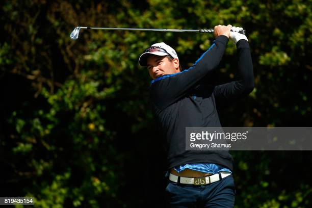 Ryan Fox of New Zealand tees off on the 5th hole during the first round of the 146th Open Championship at Royal Birkdale on July 20 2017 in Southport...