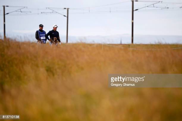 Ryan Fox of New Zealand waits on the 13th hole during day one of the AAM Scottish Open at Dundonald Links Golf Course on July 13 2017 in Troon...