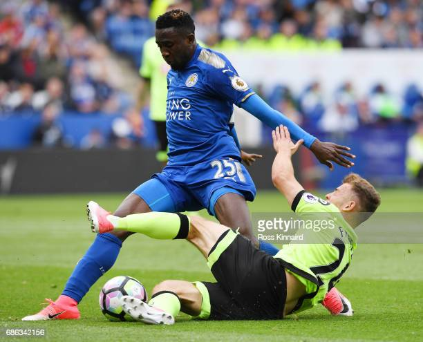 Ryan Fraser of AFC Bournemouth and Wilfred Ndidi of Leicester City during the Premier League match between Leicester City and AFC Bournemouth at The...