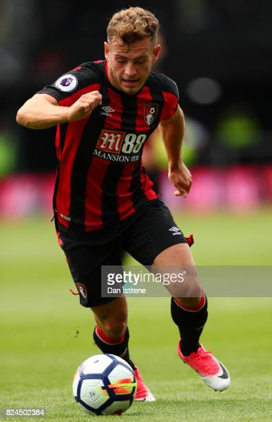 Ryan Fraser of AFC Bournemouth in action during the preseason friendly match between AFC Bournemouth and Valencia CF at Vitality Stadium on July 30...