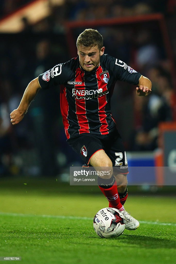 Ryan Fraser of AFC Bournemouth in action during the Sky Bet Championship match between AFC Bournemouth and Leeds United at Goldsands Stadium on September 16, 2014 in Bournemouth, England.