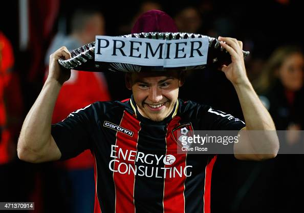 Ryan Fraser of Bournemouth celebrates victory on the pitch after the Sky Bet Championship match between AFC Bournemouth and Bolton Wanderers at...