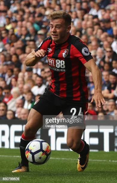 Ryan Fraser of Bournemouth runs with the ball during the Premier League match between West Bromwich Albion and AFC Bournemouth at The Hawthorns on...