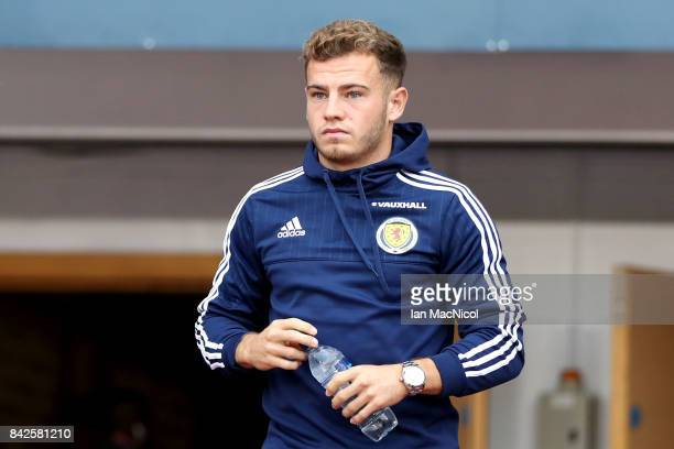 Ryan Fraser of Scotland walks on the pitch prior to the FIFA 2018 World Cup Qualifier between Scotland and Malta at Hampden Park on September 4 2017...