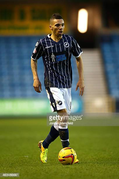 Ryan Fredericks of Millwall FC in action during the Sky Bet Championship match between Millwall and Ipswich Town at The Den on January 18 2014 in...