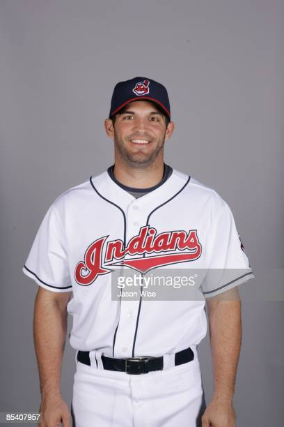 Ryan Garko of the Cleveland Indians poses during Photo Day on Saturday February 21 2009 at Goodyear Ballpark in Goodyear Arizona