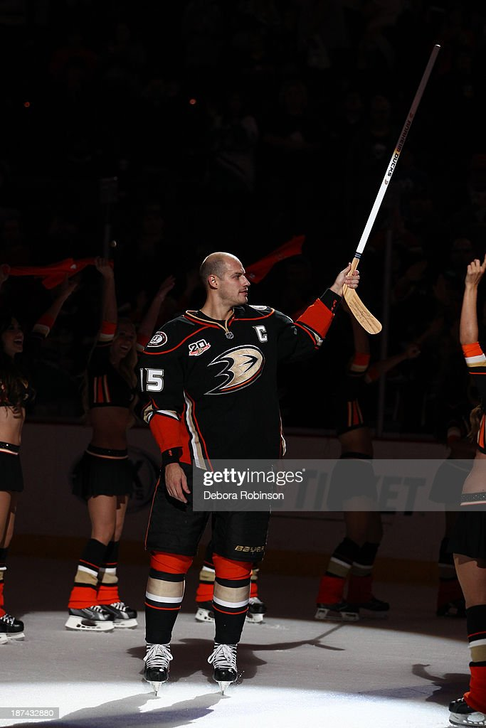 <a gi-track='captionPersonalityLinkClicked' href=/galleries/search?phrase=Ryan+Getzlaf&family=editorial&specificpeople=602655 ng-click='$event.stopPropagation()'>Ryan Getzlaf</a> #15 of the Anaheim Ducks after a victory against the Buffalo Sabres at Honda Center on November 8, 2013 in Anaheim, California.