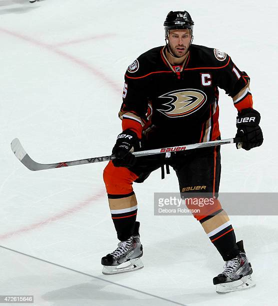 Ryan Getzlaf of the Anaheim Ducks skates against the Calgary Flames in Game Two of the Western Conference Semifinals during the 2015 NHL Stanley Cup...