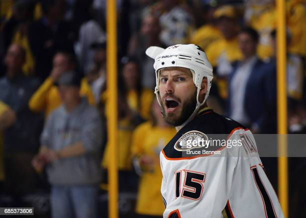 Ryan Getzlaf of the Anaheim Ducks skates against the Nashville Predators in Game Four of the Western Conference Final during the 2017 NHL Stanley Cup...