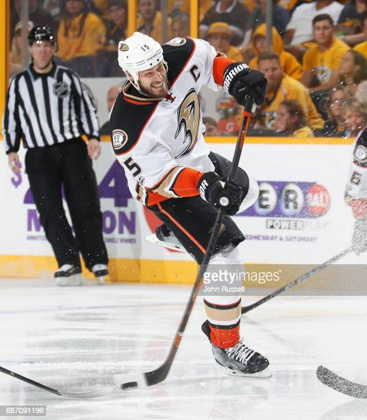 Ryan Getzlaf of the Anaheim Ducks skates against the Nashville Predators in Game Three of the Western Conference Final during the 2017 NHL Stanley...
