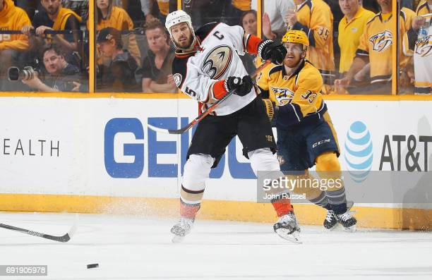 Ryan Getzlaf of the Anaheim Ducks skates against the Nashville Predators in Game Six of the Western Conference Final during the 2017 NHL Stanley Cup...