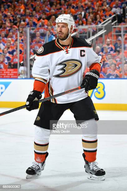 Ryan Getzlaf of the Anaheim Ducks skates in Game Four of the Western Conference Second Round during the 2017 NHL Stanley Cup Playoffs against the...