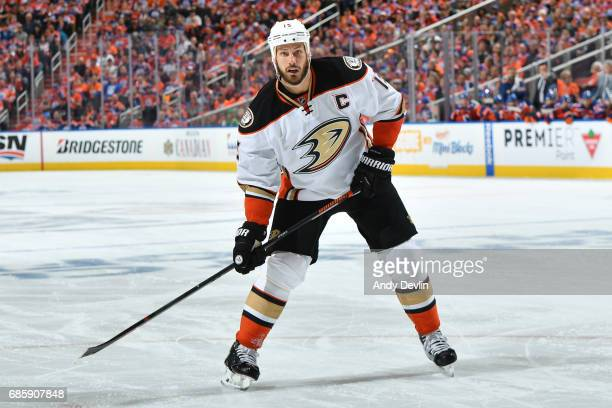 Ryan Getzlaf of the Anaheim Ducks skates in Game Six of the Western Conference Second Round during the 2017 NHL Stanley Cup Playoffs against the...