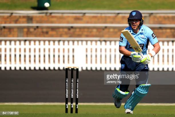 Ryan Gibson of Cricket NSW bats during the Cricket NSW Intra Squad Match at Hurstville Oval on September 2 2017 in Sydney Australia