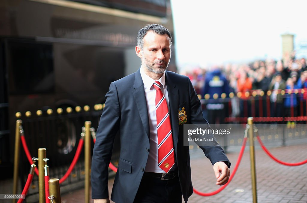 <a gi-track='captionPersonalityLinkClicked' href=/galleries/search?phrase=Ryan+Giggs&family=editorial&specificpeople=201666 ng-click='$event.stopPropagation()'>Ryan Giggs</a> Assistant Manager of Manchester United is seen on arrival at the stadium prior to the Barclays Premier League match between Sunderland and Manchester United at the Stadium of Light on February 13, 2016 in Sunderland, England.