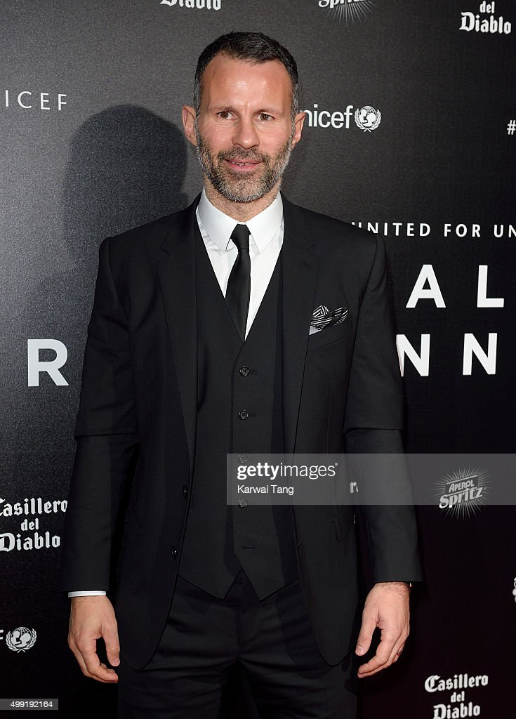 Ryan Giggs attends the United for UNICEF Gala Dinner at Old Trafford on November 29, 2015 in Manchester, England.