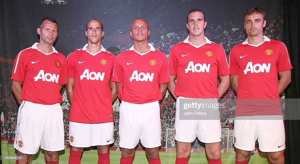 Manchester united kit launch getty images for Manchester united shirt sponsor